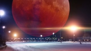 Blood Moon Seen 15 Hours Early - Flat Earth?