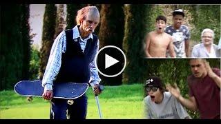 80 Year Old Skateboarder Shows Up Kids At Skatepark