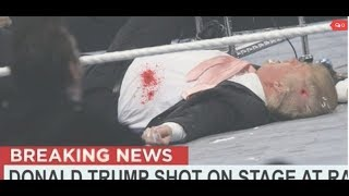 A GUN ALMOST MAKES IT INTO DONALD TRUMPS MOTORCADE. COINCIDENCE? OR SUBLIMINAL MESSAGING!