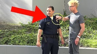 STEALING A COPS BADGE (NEVER DO THiS!!!) - MAGIC PRANK