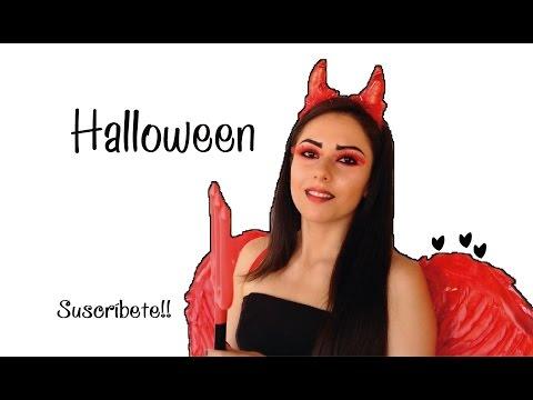 Maquillaje y Disfraz para Halloween DIABLA ♡ Naila Londoño