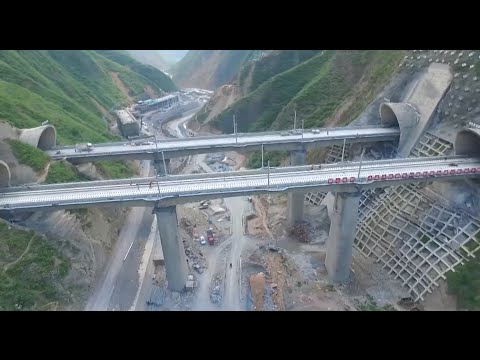 Railway Tunnel with China's Biggest Cross