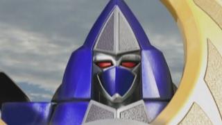 Thunderstorm Megazord and Mini Zord First Battle (Power Rangers Ninja Storm)