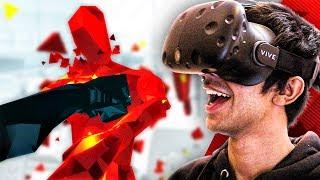 I'M IN THE MATRIX! - SUPERHOT VR (HTC VIVE)