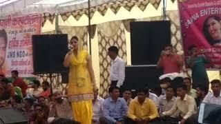 Sapna Choudhary new live dance in sikri modinagar September 12, 2017