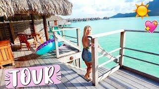 Bora Bora Overwater Bungalow Room Tour!!