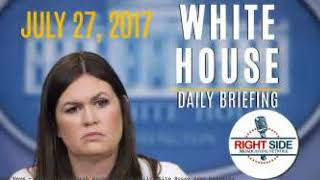 Watch live: Sarah Sanders gives daily White House news briefing