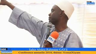 Tafsir Abdou Rahmane Gaye: YowmalXiyam