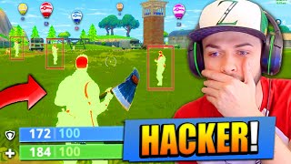 I found a HACKER in Fortnite: Battle Royale...!