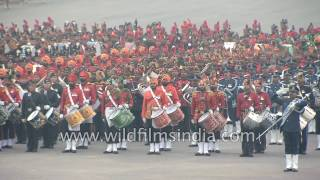 Indian martial bands play