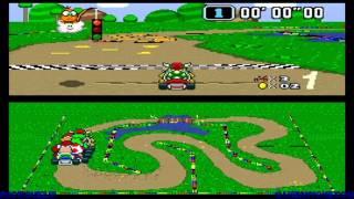 Super Mario Kart Walkthrough (Mushroom Cup 50cc Part 1)