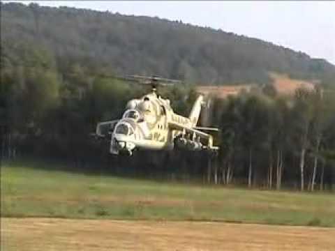 Maior helicóptero de controle remoto do mundo é reprodução de Mi 24