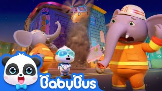Super Panda Fireman, Action! | Rescue Grandpa Turtle | Super Panda Rescue Team | BabyBus