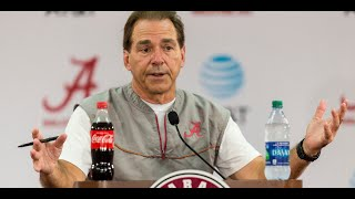 Nick Saban talks long on his Wednesday press conference as ESPN GameDay visits