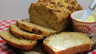 Bacon Cheddar Beer Batter Bread ~ Savory Quick Bread ~ St  Patrick's Day ~ Noreen's Kitchen