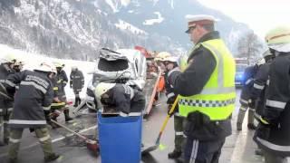 23.12.2012 13.59 Uhr Frontalcrash auf der B167 bei Bad Hofgastein 3xSV, 1xTod (SL/JO)