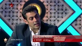 Salman Khan| Makes Fun of Karan Johar,| Star Guild Awards 2014|