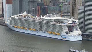 4K | Amazing HARMONY OF THE SEAS maiden call Rotterdam