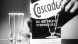 1960's commercials  P&G Cascade Dish Detergent,