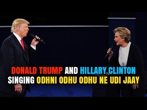 Donald Trump & Hillary Clinton I Gujarati Song I Odhni Odhu Odhu