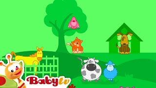Louie's World - Animals and The farmer in the Dell Song | BabyTV