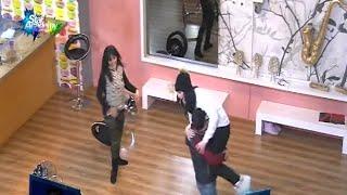 رقصة مجنونة من دينا ونسيم ورفاييل وحنان ورفاييل يحمل حنان ههههه ستار اكاديمي 11