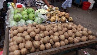 Bangladeshi Street Food Dhaka - Amazing Tasty Masala Pyara ( Guava )@Nobab Street Food