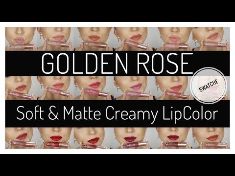 Xxx Mp4 🔥HOT🔥NOWE MATOWE PŁYNNE POMADKI Od GOLDEN ROSE SWATCHE SOFT MATTE Creamy LipColor Kitulec 3gp Sex