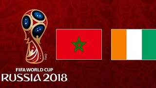 بث مباشر تصفيات كأس العالم 2018 المغرب و ساحل العاج