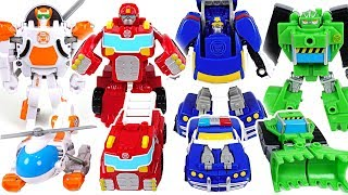 Robocar Poli! There are not enough rescue workers! Go! Transformers Rescue bots! - DuDuPopTOY
