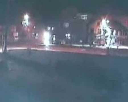 Kaza anı kameralarca görüntülendi