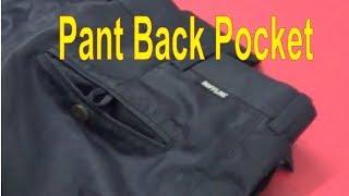how to make back pocket of full pant | gents pant | men's pant | online tutoring