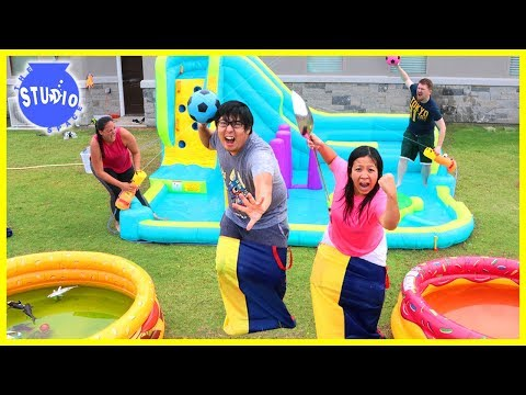 Xxx Mp4 Slime Pools Giant Water Bouncer Obstacle Course With Water Balloons 3gp Sex