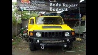 Hummer H3 Replica, Painting Process