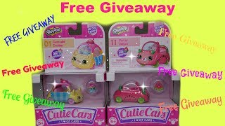 Shopkins Cutie Cars  Free Giveaway series 1 Cupcake Cruiser and Motor Melon