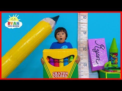 Ryan Pretend Play Magical Giant School Supplies Back To School