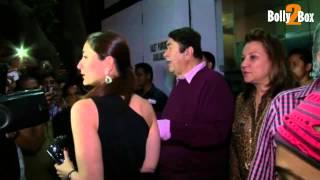 Karisma, Kareena, Saif at Randhir Kapoor's birthday bash