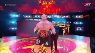 Brock Lesnar VS Samoa Joe Great Balls Of Fire highlights