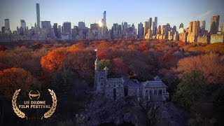 Autumn in Central Park (NYC aerial drone footage of fall foliage)