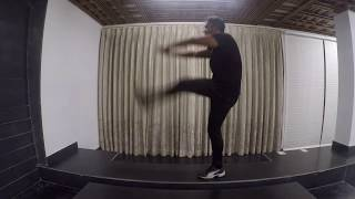 Vicky Freestyle Workout: leg raise & both hands down