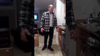 Grandpa trying a Carmel onion😂😂😂