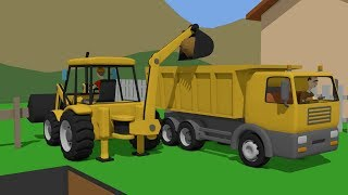 #Trucks and Excavators Compilation For Kids | Construction Machines | Maszyny Budowlane Koparki ;)