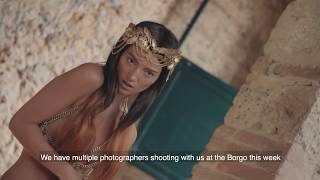 Lighting Six Nude Models - Fashion photography in Tuscany with Miss Aniela and Broncolor
