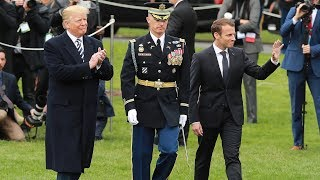 Trump holds welcoming ceremony for Macron