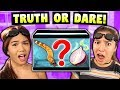 Teens And Adults Play Truth Or Dare (Eating Worms & Spicy Peppers)