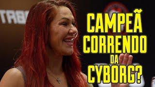 CAMPEÃ CORRENDO DA CYBORG? #UFC