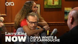 UFC President Dana White and fighter Liz Carmouche