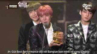 [Vietsub] [BangtanBoysVN] BTS nhận giải Best Dance Performance tại MAMA 2016
