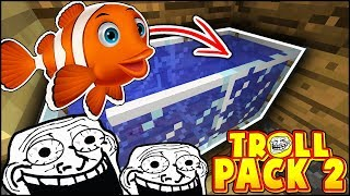 FINDING NEMO IN MINECRAFT & MAKING SOMETHING BIG TODAY!! | TROLL PACK SEASON 2 #20 (Minecraft)