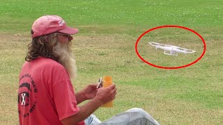 Drone Delivers Money To Homeless